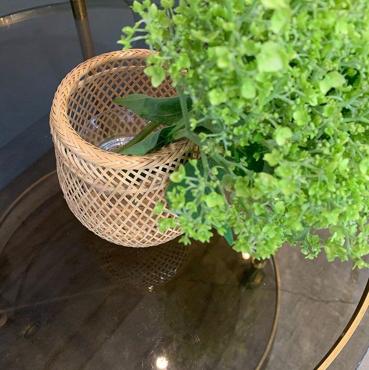 イランイランに飾っている竹かご